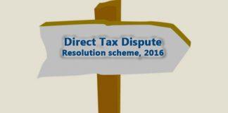 Direct Tax Dispute Resolution Scheme Rules, 2016