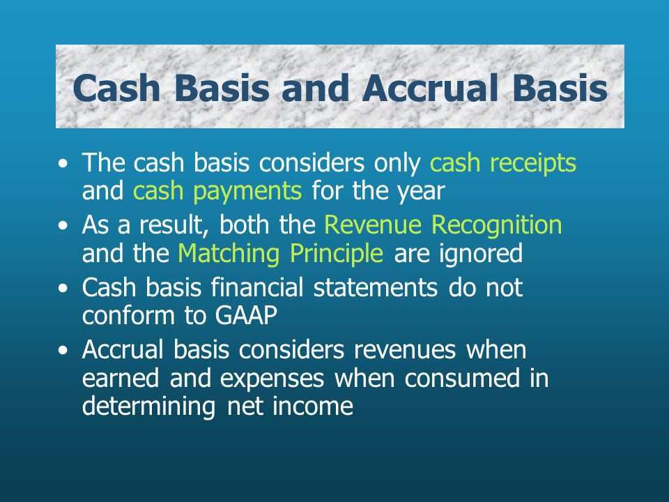 Accounting of Income -whether on receipts or accrual basis