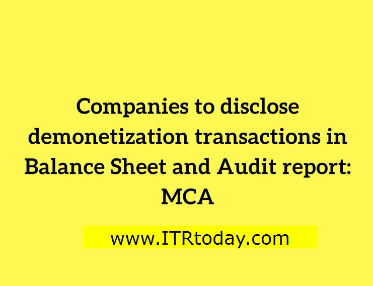 Guidelines to disclose demonetised/SBN/old notes in Audit Report