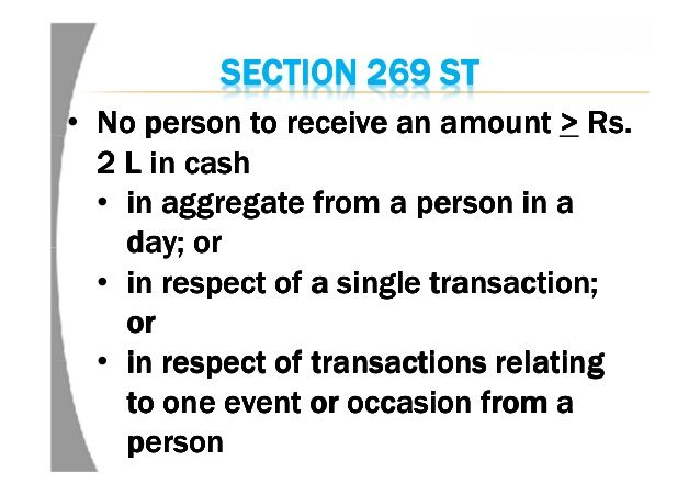 Penalty U/s 271DA For Violation Of S. 269ST Of The Income-tax Act, 1961