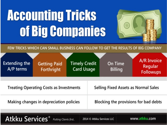 Use accounting tricks and save your hard-earned money from paying taxes