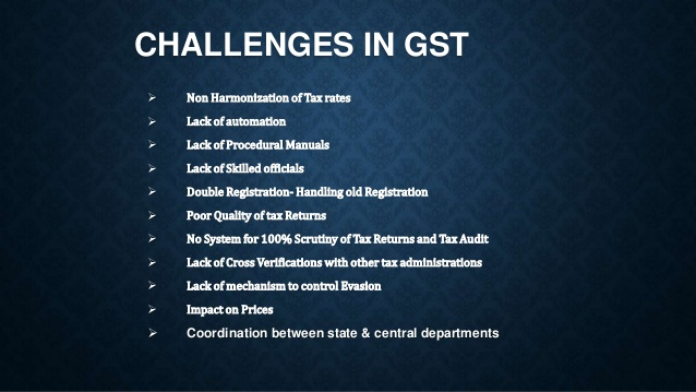 Challenges in GST System