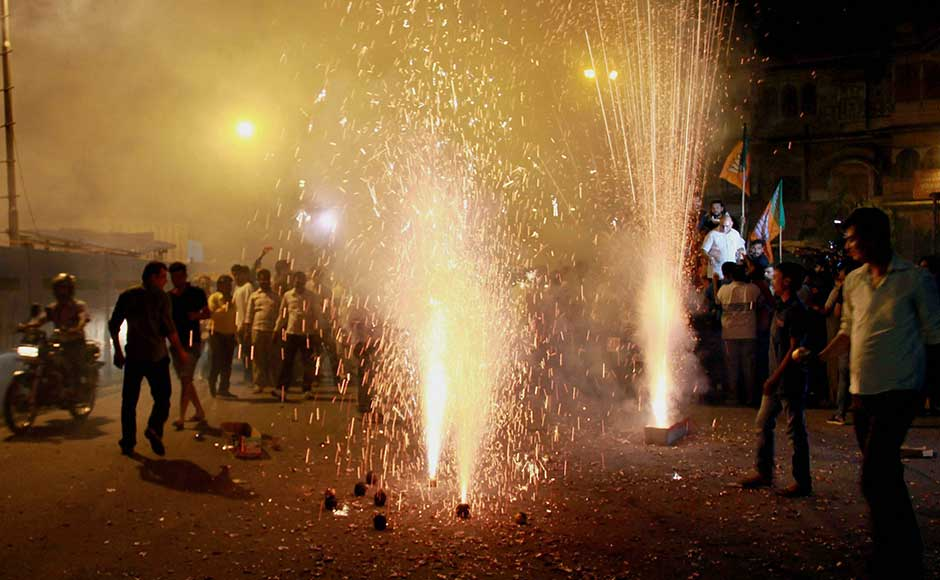People Burst Crackers as GST ushered in. Guess how many of these people actually understood GST or are traders subject to GST?