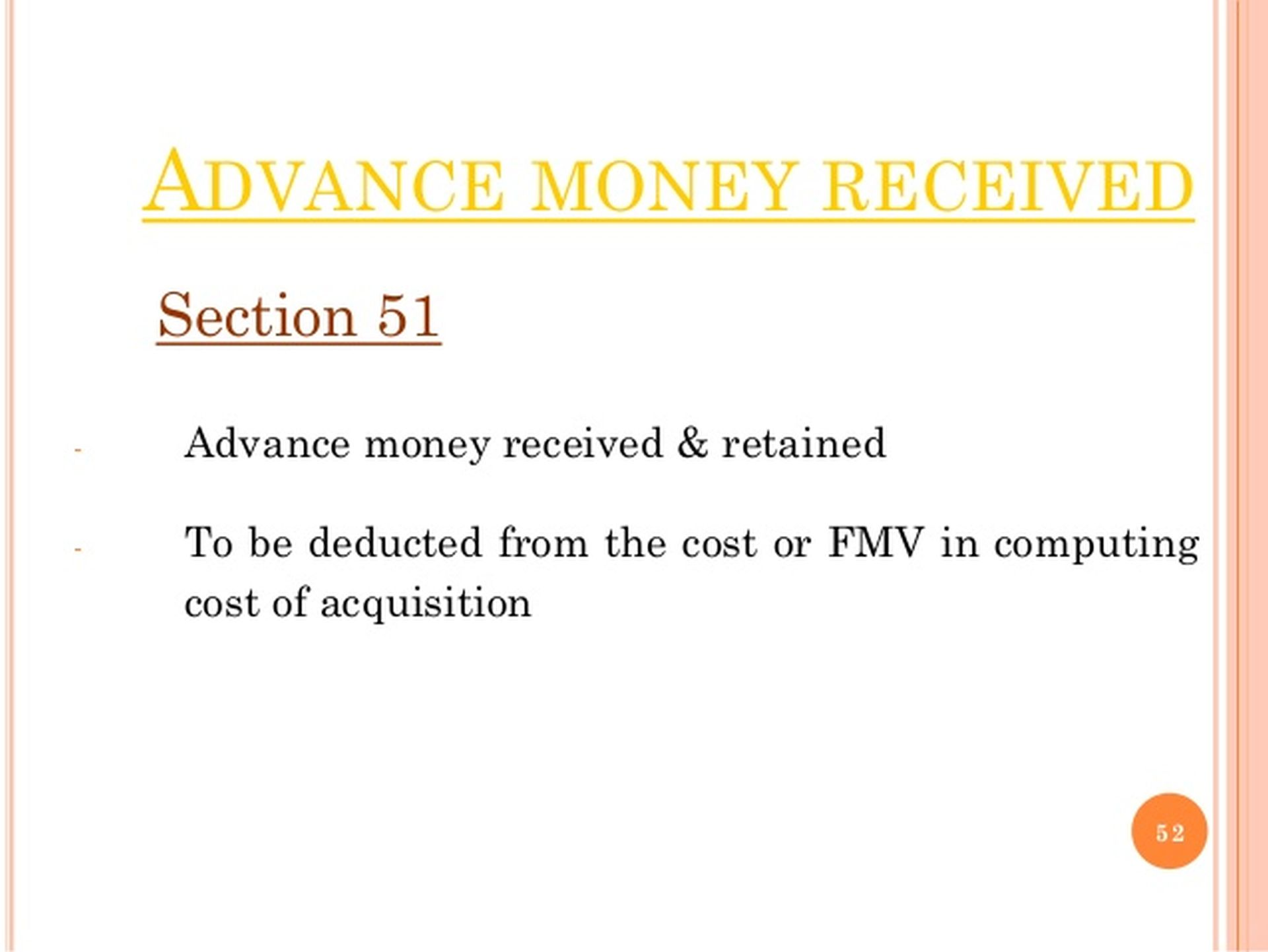 Section 51 of the Income Tax Act