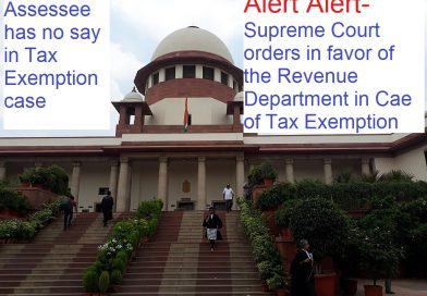 Supreme court Judgement: Tax Exemption Ambiguity-Benefit in favor of the Revenue Department
