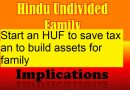 HUF- a tax planning tool to save Income tax