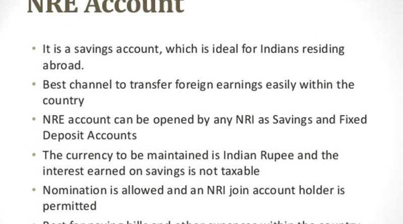 Tax Liability of an NRE account