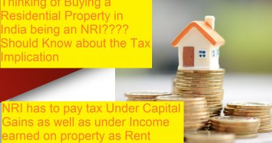 Tax Implications by Owning Residential Property by an NRI in India