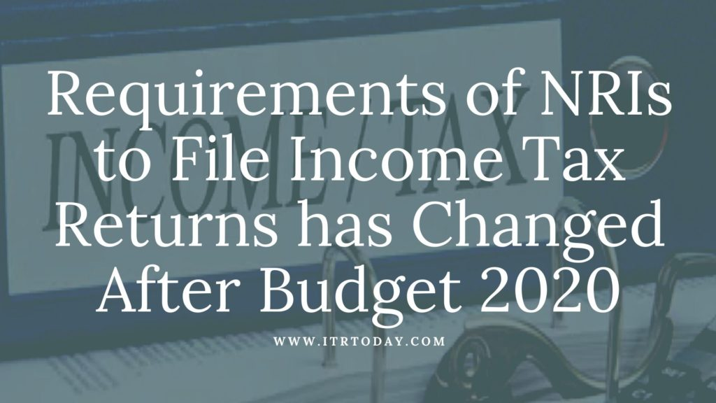 NRIs to File Income Tax Returns 1