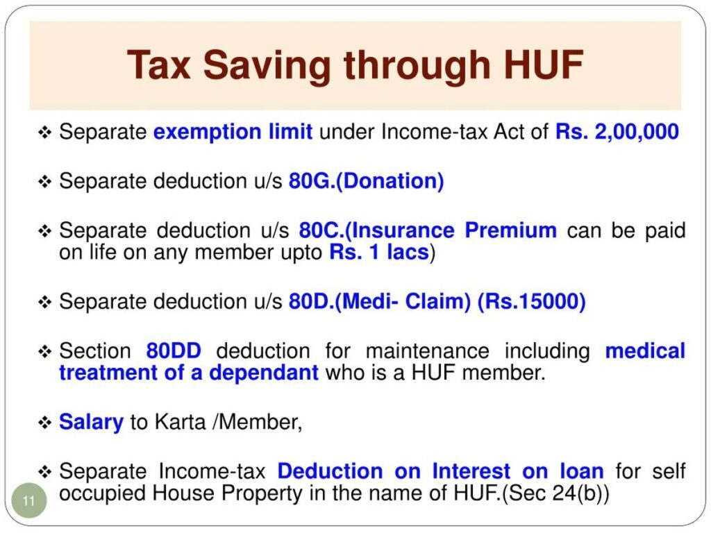 HUF-as-tax-Saving-Tool