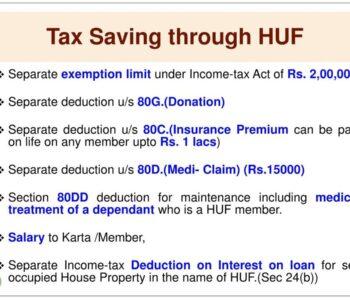 HUF-as-tax-Saving-Tool