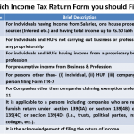 Which is the Best return form for you to File Income Tax return?
