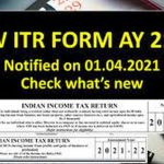 What are changes in the income tax return form to be filed this year?