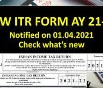 Changes in Income Tax Return Forms